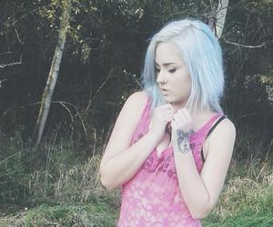 dyed hair, white hair, and pastel hair image