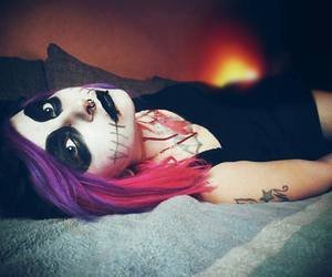 dyed hair, inked, and Piercings image