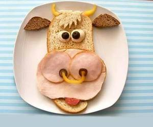 cow, food, and funny image