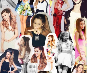 Collage, ariana grande, and music image