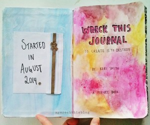 keri smith, wreck this journal, and first page. image