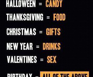 Halloween, birthday, and christmas image