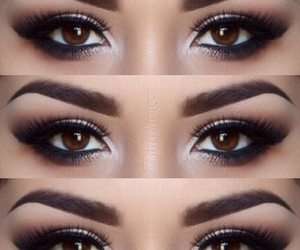 makeup, beautiful, and eyes image