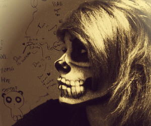 emo, face, and Halloween image
