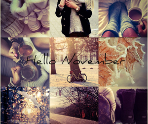 autumn, cold, and hello image