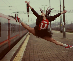jump, ballet, and dance image