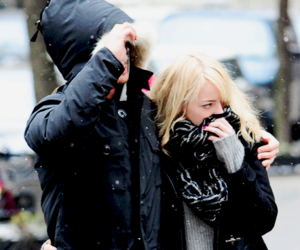 emma stone, girl, and winter image