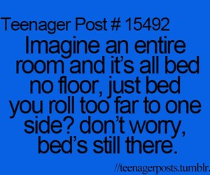 bed, teenager, and funny image