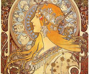 mucha, zodiac, and art image