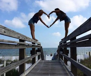 friends, heart, and friendship image