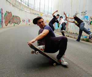 boy, skate, and graffiti image