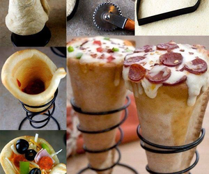 pizza, diy, and food image