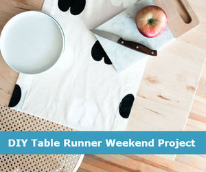 diy, runner, and table image