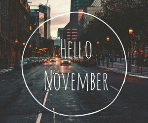 november, fall, and hello image