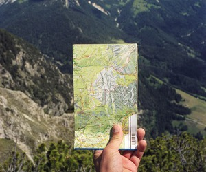 map, mountains, and travel image