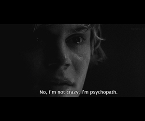 black and white, Darkness, and psychopath image