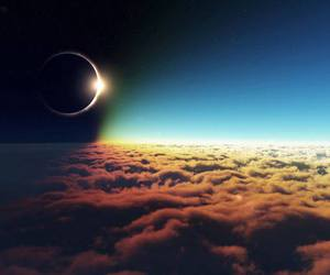 clouds and eclipse image