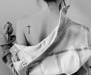 tattoo, girl, and cross image