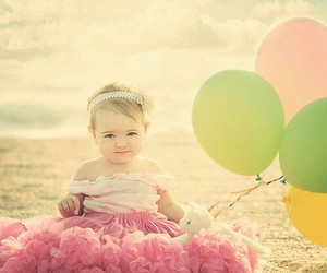 baby, cute, and balloon image