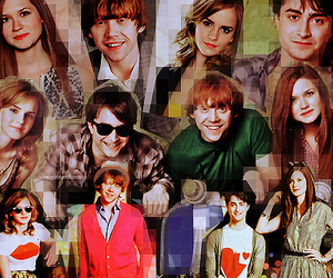 bonnie wright, emma watson, and harry potter image