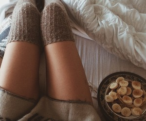 socks, banana, and cozy image
