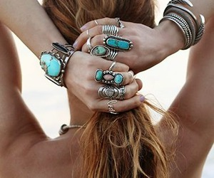 accessories, jewelry, and ponytail image