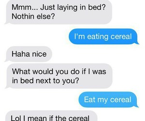 funny, cereal, and chat image