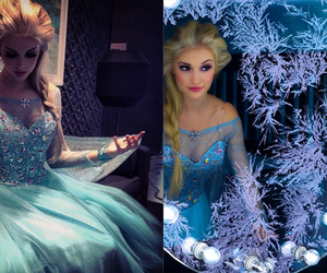 blue, frozen, and disney image