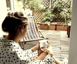 coffee, girl, and Lazy image