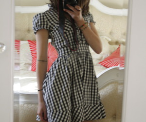 checkered and dress image