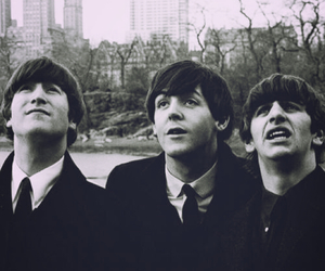 1964, b & w, and beatles image