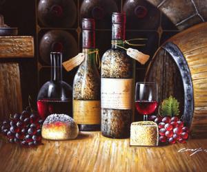 art, barrels, and bread image