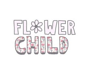 child, flower, and overlay image