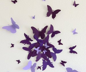 butterflies, violet, and diy image