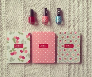 pink, floral, and nails image