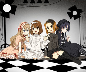k-on, mio, and yui image