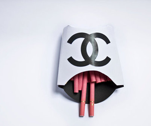 chanel, pink, and cigarette image