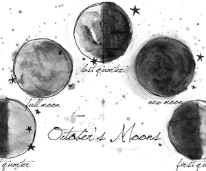 moon and october image