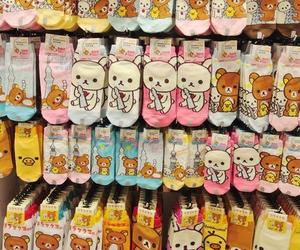 rilakkuma, kawaii, and socks image