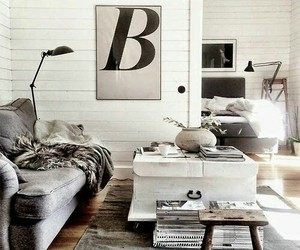 decor, grey and white, and interiors image