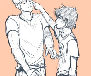 nico di angelo, jason grace, and percy jackson image