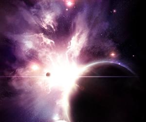 colors, cool, and nebula image