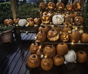 Halloween, autumn, and pumpkins image