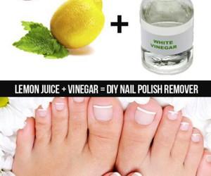 diy, nails, and lemon image