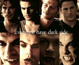 vampire, damon, and dark side image