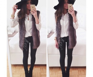 outfit, fashion, and fur image
