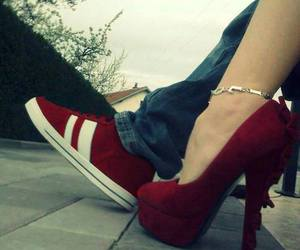 shoes, love, and red image
