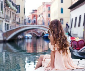 girl, venice, and hair image