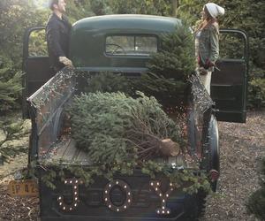 christmas, tree, and couple image