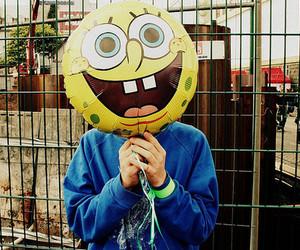 spongebob, balloons, and sponge bob image